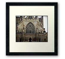 The west front, Exeter Cathedral. Framed Print