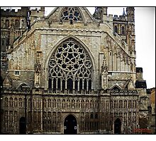The west front, Exeter Cathedral. Photographic Print
