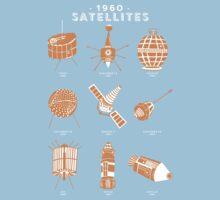 1960s Satellites Baby Tee