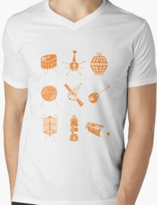 1960s Satellites Mens V-Neck T-Shirt