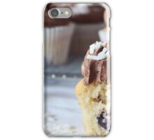 Cherry and coconut cupcakes iPhone Case/Skin