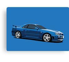 Nissan Skyline R34 (Farid) Canvas Print