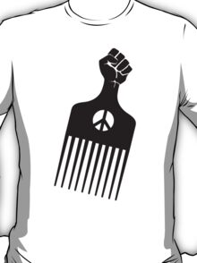 The Black Fist Afro Comb T-Shirt