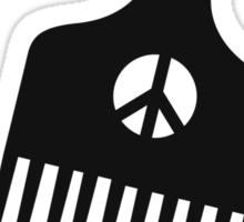 The Black Fist Afro Comb Sticker