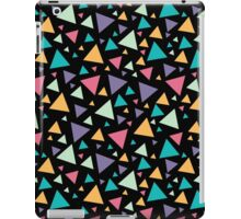 Memphis style pattern with colored triangles iPad Case/Skin