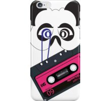 Panda vintage tape iPhone Case/Skin