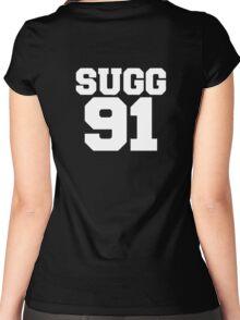 SUGG 91 - ThatcherJoe Baseball - Joe Sugg Women's Fitted Scoop T-Shirt