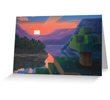 Dusk Squared Greeting Card