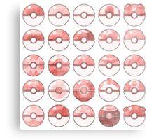 Pokemon Pokeball Red Metal Print