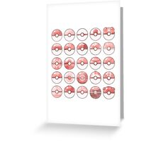 Pokemon Pokeball Red Greeting Card