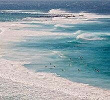 Surfs Up at Newcastle Beach by Allport Photography