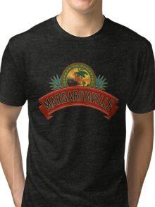 margaritaville logo jimmy buffet original kluwer Tri-blend T-Shirt