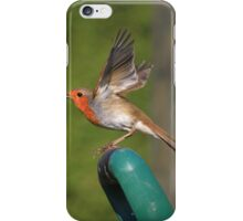 Robin flying from spade handle iPhone Case/Skin