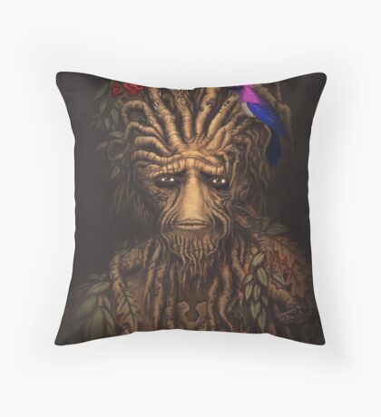 Last Days of the Woodman Throw Pillow