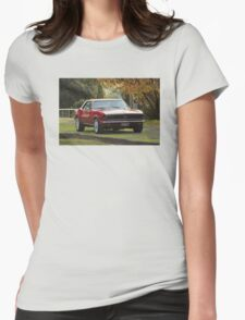 Camaro on the grass Womens Fitted T-Shirt