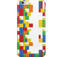 Lego - seamless vector pattern of plastic parts iPhone Case/Skin