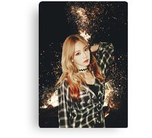 Kim Taeyeon - Fire Canvas Print