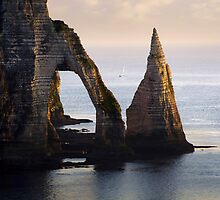 The Aval Door in Etretat  France  by JBlaminsky