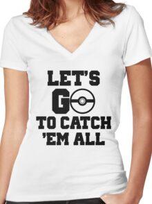 Pokémon Go 3 Women's Fitted V-Neck T-Shirt