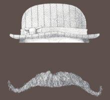 GENTLEMAN'S hat&mustache One Piece - Short Sleeve
