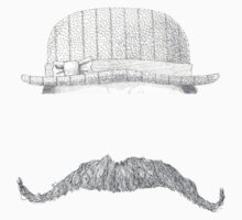 GENTLEMAN'S hat&mustache Kids Tee