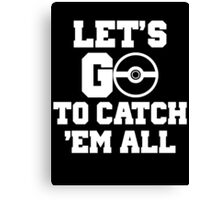 Pokémon Go 4 Canvas Print