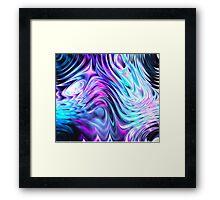 coloured swirls Framed Print