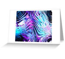 coloured swirls Greeting Card
