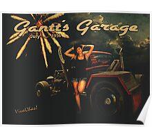 Rat Rod Holiday at Gantt's Garage July 4th 1956 Poster
