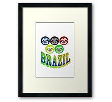 brazillian smiling sloth's Framed Print