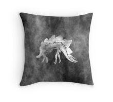 Stegosaurus Skeleton GRUNGE STYLE Throw Pillow