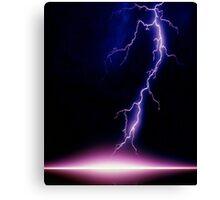 Lightning - very, very frightening Canvas Print