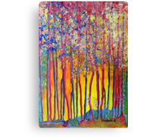 Trees at the break of a new day Canvas Print