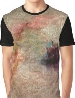 Abstract Tender Pastel Colors Cool Wool Imitation Painting Graphic T-Shirt