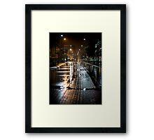 Cafe Strip Framed Print