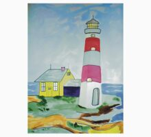 Lighthouse and adjacent house for the keeper's family One Piece - Short Sleeve