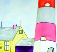 Lighthouse and adjacent house for the keeper's family Sticker