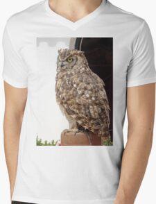 Lord of Wings - Owl Bird of prey Mens V-Neck T-Shirt