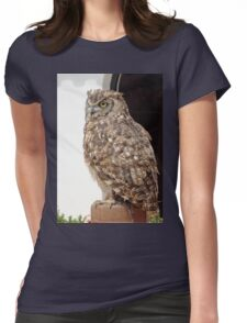 Lord of Wings - Owl Bird of prey Womens Fitted T-Shirt