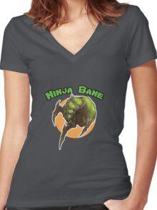 Ninja Bane Women's Fitted V-Neck T-Shirt