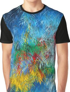 Cool Blue Red Yellow Green Abstract Dream Painting Graphic T-Shirt