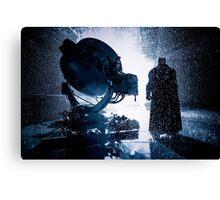 Batman Signal Rain Canvas Print