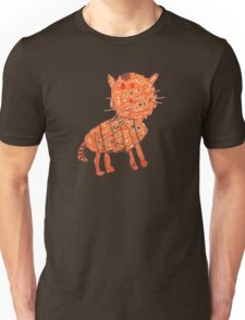 Funny orange cat, childish style Unisex T-Shirt