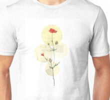 Red wildflower print Unisex T-Shirt