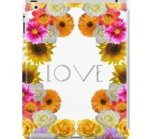 Flowery love iPad Case/Skin