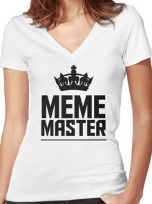 Meme Master Women's Fitted V-Neck T-Shirt