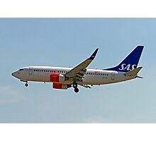 LN-TUK SAS Boeing 737 Next Gen  Photographic Print