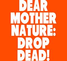 Dear Mother Nature Drop Dead vintage dirty hippy  Womens Fitted T-Shirt
