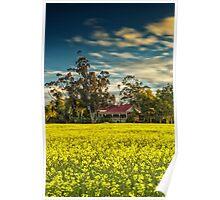 Hillside Farmhouse Poster