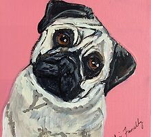 Pug Pup by Kylie Farrelly